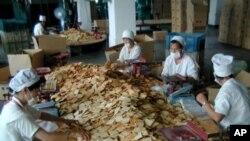 북한 내 WFP 지원 과자공장