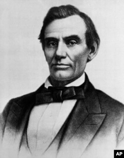 Abraham Lincoln is shown in an October 1858 photograph by W.A. Thomson, taken in Monmouth, Illinois.
