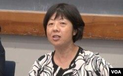 哥伦比亚大学教育学院教授林晓东 (美国之音方冰拍摄)