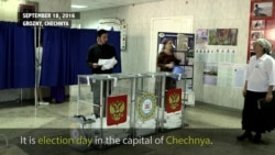 Voting in Grozny