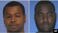 تصاویر منتشر شده از دو متهم به قتل ماموران پلیس ماروین بنکس، (چپ) و برادرش کورتین بنکس