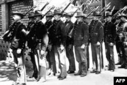 1900年进入北京城的美国海军陆战队
