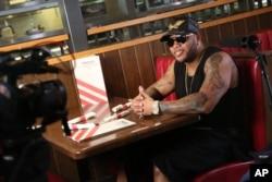 "Flo Rida shot his ""Hello Friday"" music video at TGI Fridays, March 16, 2016 in Los Angeles."