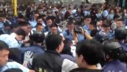 港警周三强行清场拘捕学生领袖