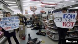 Posle ruske aneksije Krima, aktivisti u Odesi pozivali su kupce da bojkotuju rusku robu.