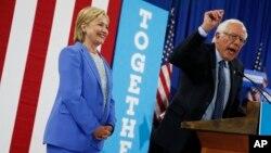 هیلاری کلینتون و برنی سندرز