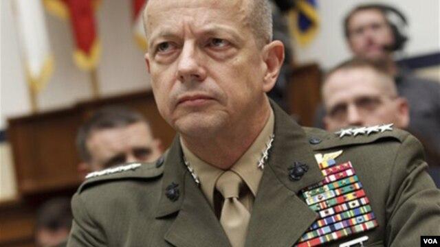 El general John Allen dijo al pedir su retiro que su mayor preocupación era la salud de su esposa.