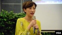 香港一地兩檢關注組召集人、公民黨立法會議員陳淑莊。(美國之音湯惠芸)