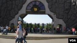 習近平和普京將參加莫斯科動物園熊貓館開幕儀式。(美國之音白樺攝)