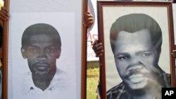 Fotos de Zeca Van Dunen e Nito Alves mortos após alegada tentativa de golpe em 1977