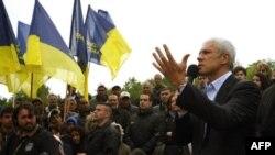 Boris Tadić se obraća pristalicama u Beogradu, 13. maja 2012.