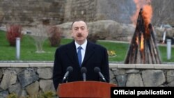 Prezident İlham Əliyev Novruz şənliyində
