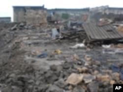 Nyumba zilizoteketea huko Goma Mashariki ya DRC Julai 04 2010.