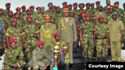 Makamanda wa Kikosi maalum cha Uganda wakati wa zowezi la kushtukiza
