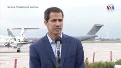 """Guaidó en Colombia: insistimos en la """"necesidad de salvar vidas"""""""