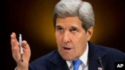 El secretario de Estado, John Kerry, testifica en el Capitolio sobre los poderes de guerra para derrotar al grupo Estado islámico.