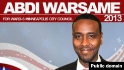 Poster kampanye Abdi Warsame untuk menjadi anggota Dewan Kota Minneapolis. (Foto: Dok)