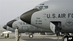 US military planes at Manas US military base, in Bishkek airport, Kyrgyzstan (File Photo)