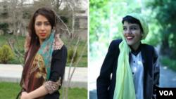 صبا کردافشاری(چپ) و یاسمن آریانی از بازداشت شدگان مردادماه در ایران
