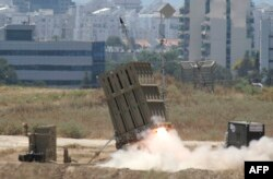 İsrail'in 'Demir Kubbe' hava savunma sistemine ait bir füze rampası