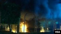 Американскиот конзулат во Бенгази, Либија, по нападот на 11-ти септември во кој загинаа амбасадорот Кристофер Стивенс и тројца други членови на персоналот.