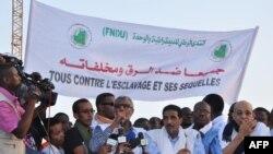 Des opposants mauritaniens manifestent le 7 mai 2016 contre le projet de révision de la constitution, Nouakchott, Mauritanie.