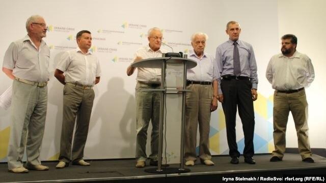 Прес-конференція з вимогою ввести мораторій на зміни до Конституції в частині децентралізації, Київ, 13 серпня 2015 року