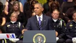 سەرۆک ئۆباما بە توندی هێرشی سەر پـۆلیسەکانی تەکساس شەرمەزاردەکات