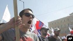 파업을 벌이고 있는 그리스 노동자들