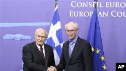 Ο κ. Παπούλιας συναντήθηκε με τον Πρόεδρο της Ε.Ε. Χέρμαν βαν Ρομπάυ
