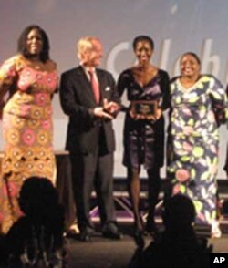 Theopista Sekitto, far right, at the Global Banking Alliance for Women 10th Anniversary Summit Gala and Innovation Award ceremony.