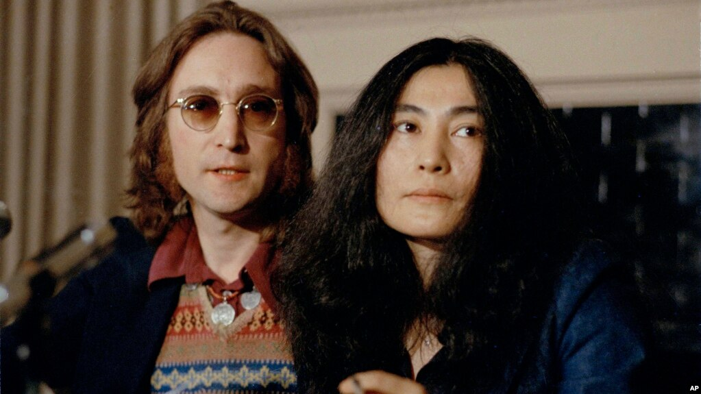 John Lennon And His Wife Yoko Ono Speak At A Press Conference March 2