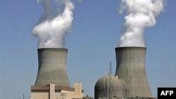 Khói bốc lên từ các tháp làm nguội của các lò phản ứng hạt nhân thuộc nhà máy điện Vogtle ở Waynesboro, bang Georgia