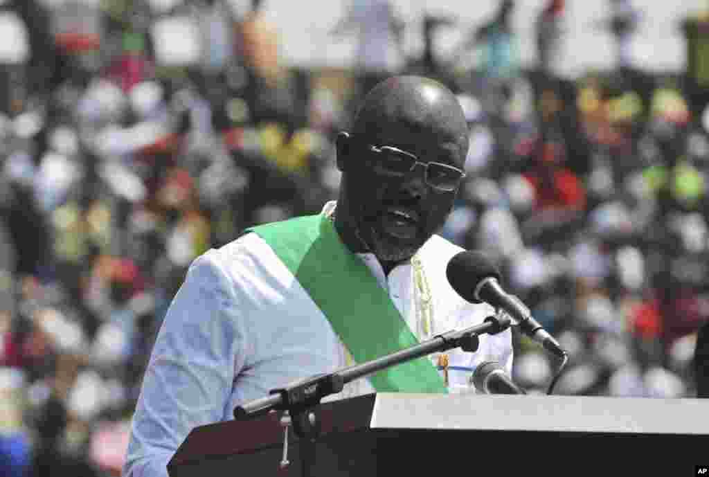 An gudanar da bikin rantsar da sabon shugaban kasar Liberia, George Weah, ranar 22 ga watan Janairu, 2018