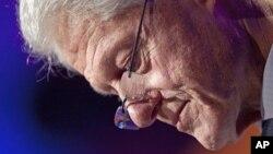 Cựu Tổng thống Bill Clinton khai mạc Hội nghị Sáng kiến Toàn cầu Clinton thường niên lần thứ 8 tại New York, ngày 23/9/2012