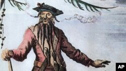This is an undated photo of a portrait of pirate Blackbeard. Blackbeard's real name is thought to be either Edward Teach, Edward Thatch or Tache. (AP Photo)