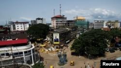 Vue sur la capitale guinéenne, à Conakry, le 8 octobre 2015.