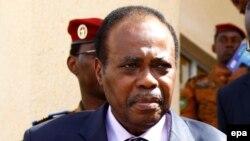 Edem Kodjo, facilitateur de l'Union africaine pour le dialogue politique en RDC, photo du 31 octobre 2014. epa / LEGNAN KOULA