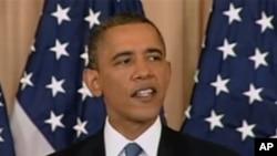 O presidente Obama durante o discurso proferido no Departamento de Estado