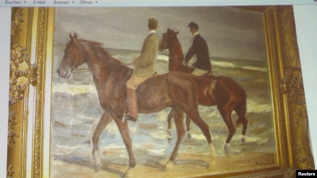 FILE - 'Two Horsemen at the Beach' by German artist Max Liebermann was one of the paintings found in a Munich apartment in 2011.
