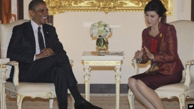 Tổng thống Obama hội đàm với Thủ tướng Thái Lan Yingluck Shinawatra ở Bangkok, 18/11/12