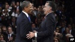 Барак Обама и Митт Ромни (архивное фото)