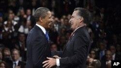 အေမရိကန္သမၼတ Barack Obama နဲ႔ Republican သမၼတေလာင္း Mitt Romney