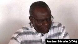 Anatole Limbongo Ngoka, président du PARADIS, un proche du général Mokoko, le 21 juin 2019. (VOA/Arsène Séverin)