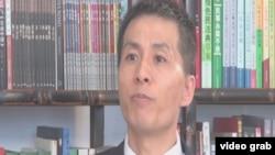 揭露中共官员性丑闻的朱瑞峰(美国之音视频截图)