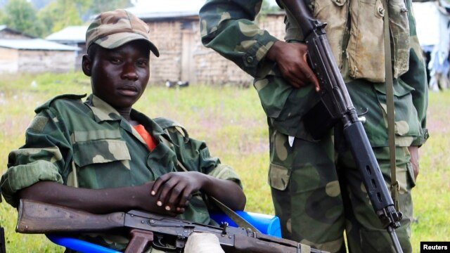 M23 rebels near Goma, DRC (2013 photo)