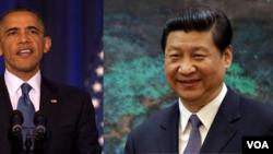 Presiden Amerika Barack Obama (kanan) dan Presiden China Xi Jinping (Foto: dok).