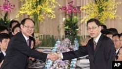 양안관계 논의를 시작하는 중국과 타이완 관리들