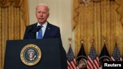 Predsjednik Joe Biden govori o ekonomiji u Istočnoj sobi Bijele kuće, 16. septembra 2021.