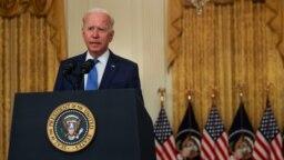 Джо Байден выступает в Белом доме по вопросам экономики. 16 сентября 2021г.